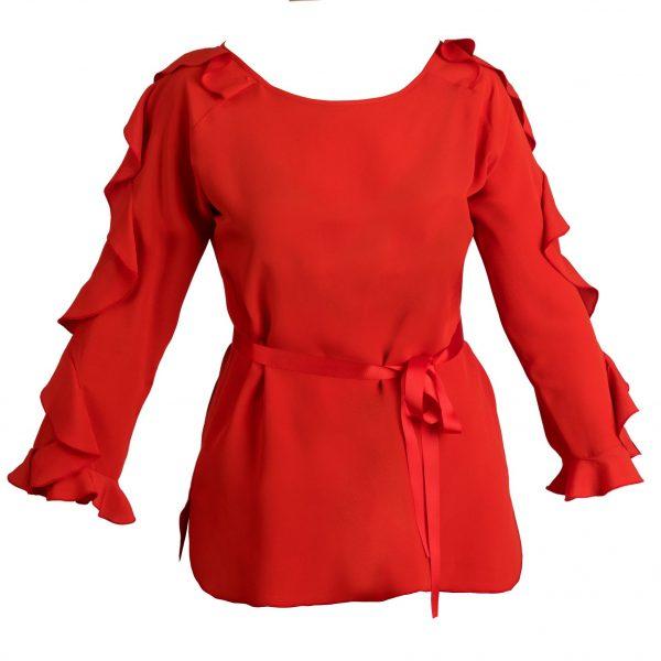 blusa parigi rossa fronte